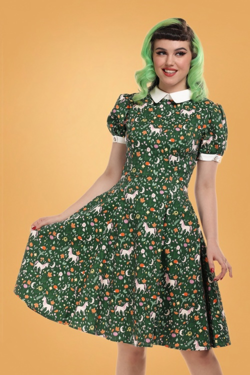 Collectif 29853 peta unicorn swing dress 20190415 020LW