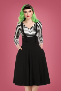 Collectif 29816 Ronnie Swing Skirt in Black 20190430 020LW