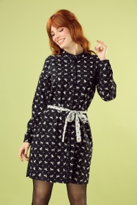 Banned Retro 30596Wild Horses Shirt Dress 20190529 040M