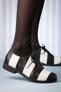 Lola Ramona 30263 Allison Shoe Black White Striped 20190911 006W