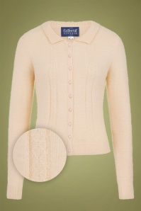 Collectif 29868 Cara Cardigan in Cream 20190430 021LZ