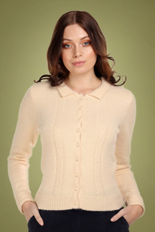 Collectif 29868 Cara Cardigan in Cream 20190430 020LW
