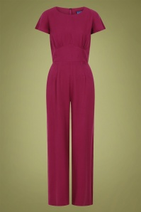 Collectif 29929 Joelyn Plain Jumpsuit in Wine 20190430 021LW