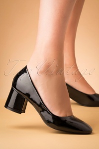 60s The Modernist Patent Pumps in Black