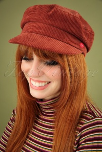 Mademoiselle YéYé 70s Think A Hat Cap in Brown