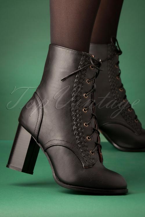 Banned 29257 Black Clustered Heels 20190911 007W