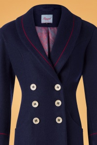 Banned 30546 Rocking Coat in Navy and Red 20190626 003V