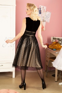 Banned Retro 30622 Velvet Lovely Polkadot Dress 20190913 036W