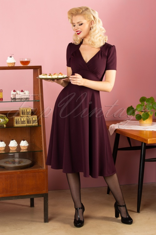 Very Cherry 29991 Crievo Auberg 40s Vievienne Dress 20190913 043W