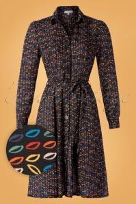 60s Jane Lady Maria Dress in Black
