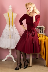 50s Ballerina Dress in Ruby Red
