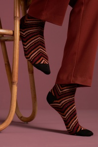 60s Indra Socks in Brunette Brown