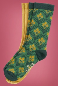 60s Dynasty Socks in Fir Green