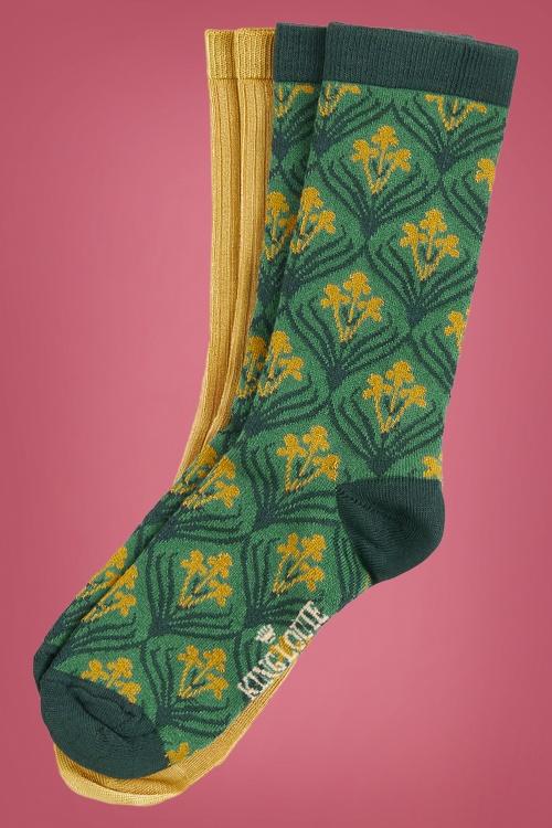 King Louie 29534 Socks Dynasty in Fir Green 20190909 020L copy