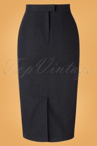 Unique Vintage 31207 Pencilskirt Black Micheline 09162019 003W
