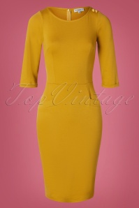 Very Cherry 29999 Pencildress Musterd 60s Spy 09162019 003W