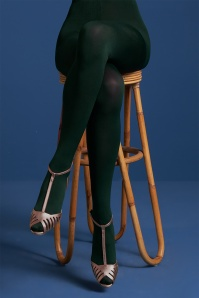 King Louie 60s Solid Tights in Pine Green