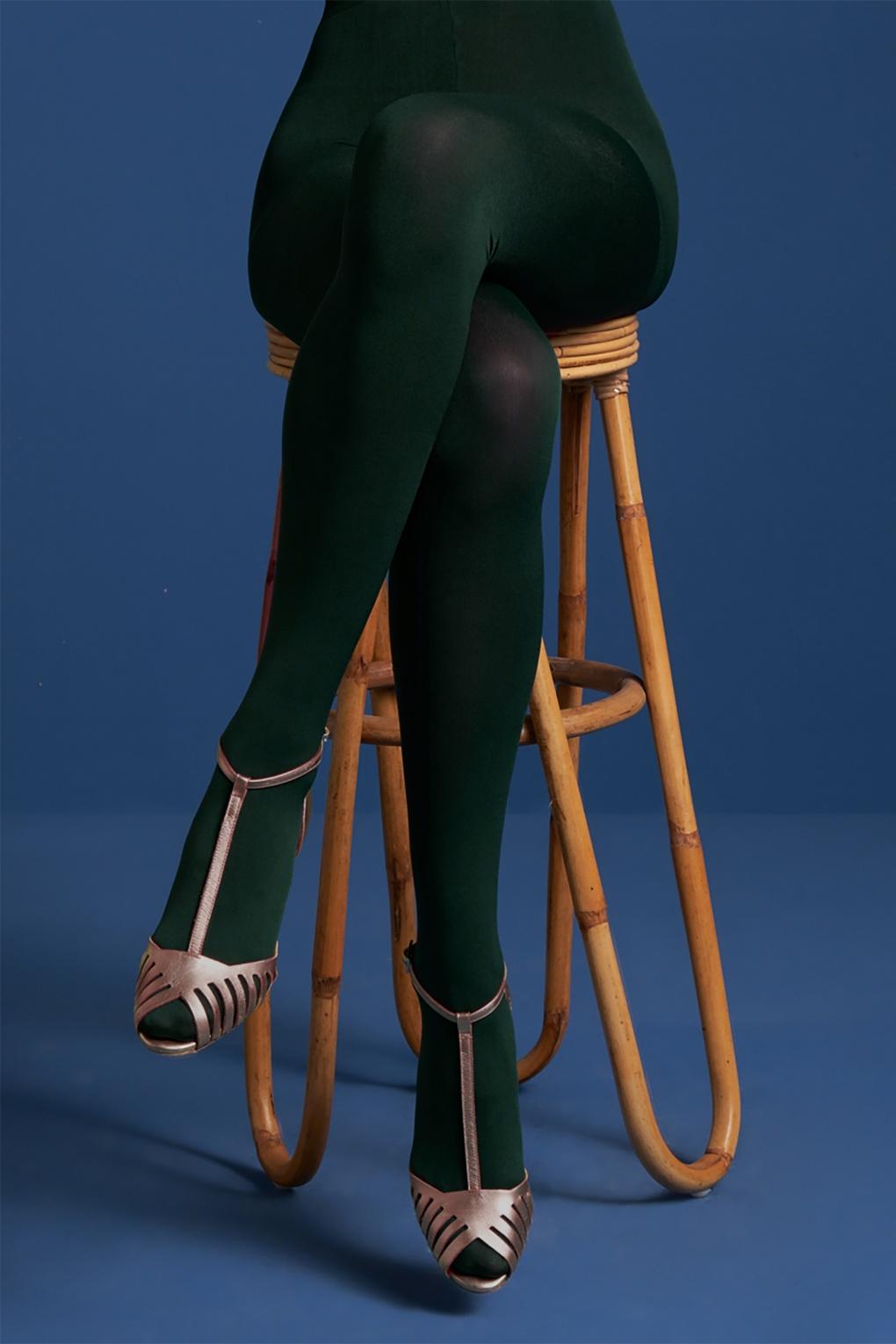 1960s Style Dresses, Clothing, Shoes UK 60s Solid Tights in Pine Green £13.08 AT vintagedancer.com