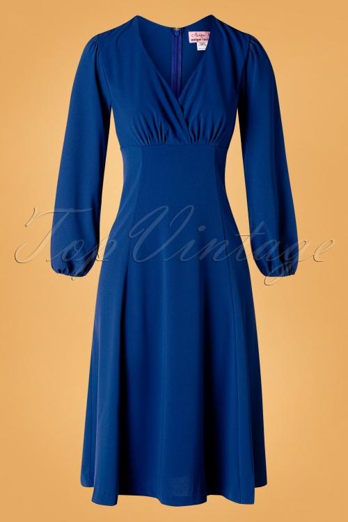 Unique Vintage 31209 Swingdress Blue 09162019 003W