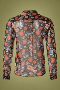 MdM 29717 Blouse Transparent Black Orange Floral 09162019 008W