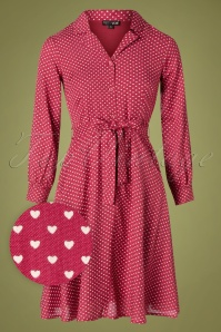 Pretty Vacant 29335 Swingdress 60s 60s Sheena Pink Hearts 09162019 005W1