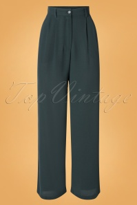 Md'M 40s Sylvia Trousers in Dark Green