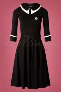 50s VV X Acid Doll Dark Sacrement Dress in Black