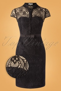 Belsira 31278 Pencildress Black Lace Transparent 190821 002Z