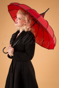 50s Everly Umbrella in Red