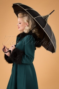 50s Everly Umbrella in Black