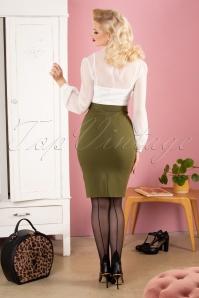 Paper Dolls 30827 Anjo Pencil Dress Olive White 041MW