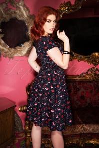 Collectif TV 30820 Swingdress Black Shoes Lipstick Love Mimi 13 2068W