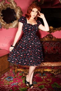 Mimi Shoes Love Doll Dress Années 50 en Noir