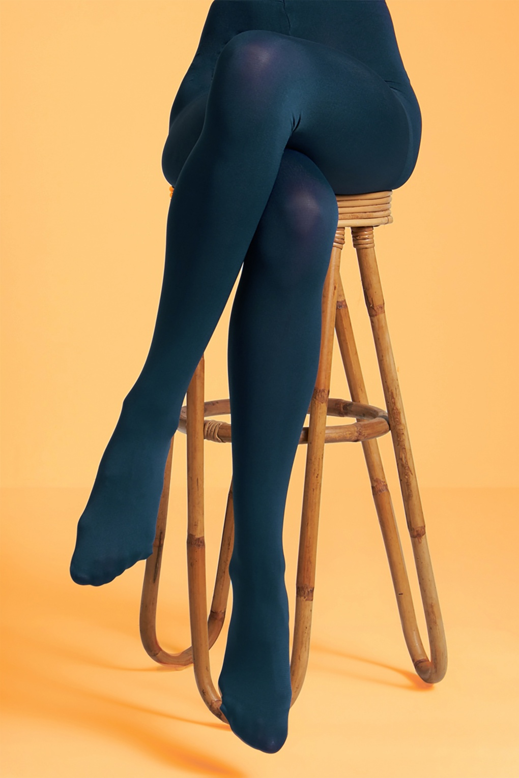 1960s Tights, Stockings, Panty Hose, Knee High Socks 60s Solid Tights in Autumn Blue £12.86 AT vintagedancer.com