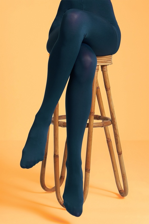 King Louie 29562 Tights Solid in Autumn Blue 20190911 020L copy