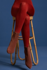 King Louie 60s Solid Tights in True Red
