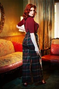 Collectif TV 30805 Trousers Multi Westie Check Glinda 19 1701W