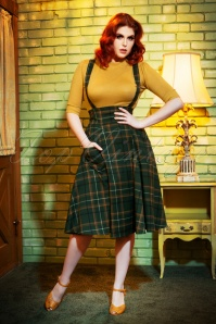 Collectif TV 30807 Alexa Fife Check Swing Skirt 1805W