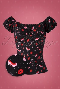 Collectif TV 30810 Top Black Shoes Lipstick Love Vanessa 19 0002Z