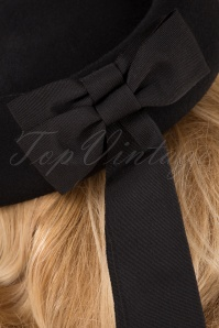 Banned Retro 29228 Hat Olivia Black Ribbon 20190912 003W
