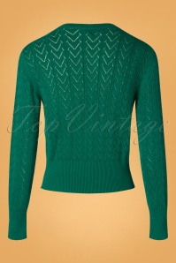 Pretty Vacant 29340 Heart Cardigan in Green 20190917 005W