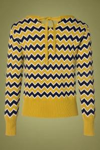 Pretty Vacant 29336 Aretha Jumper in Mustard Yellow 20190917 006W