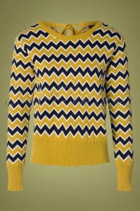 Pretty Vacant 60s Aretha Jumper in Mustard