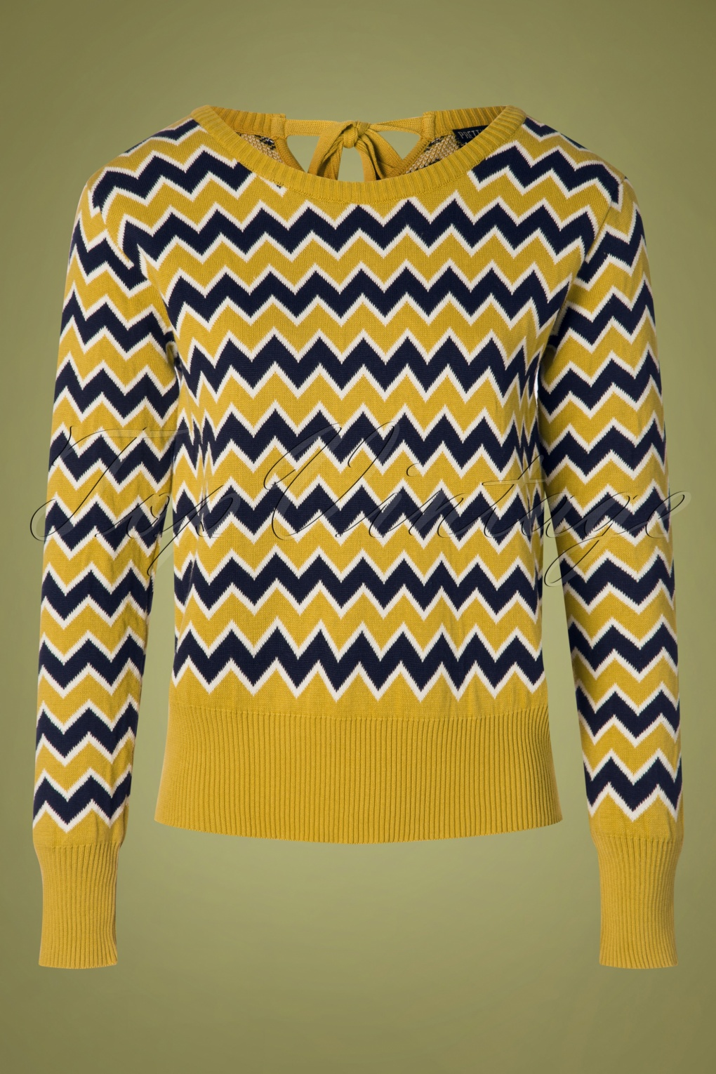Vintage Sweaters: Cable Knit, Fair Isle Cardigans & Sweaters 60s Aretha Jumper in Mustard £57.63 AT vintagedancer.com