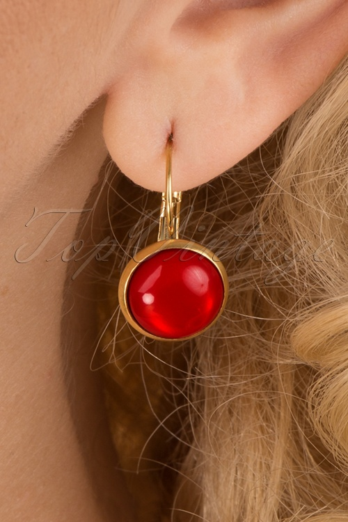 Urban Hippies 31906 Glossy Red Earrings 20190912 002 W