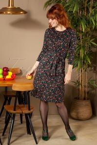 Hailey Jaybird Dress Années 60 en Noir