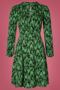 Blutsgeschwister 60s Greta In Love Robe in Emerald Palace Green