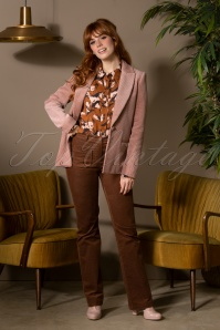 La Petite Francaise 70s Tanya Trousers in Hazel Brown