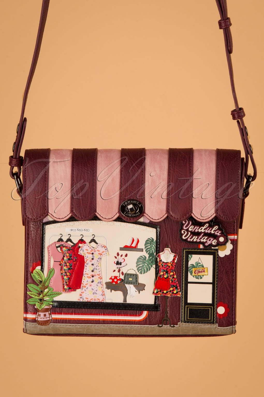 Vintage Handbags, Purses, Bags *New* 60s Vintage Shop Box Bag in Burgundy £83.97 AT vintagedancer.com