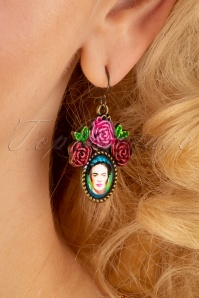 70s Frida Earrings in Antique Gold